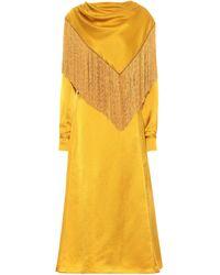 Gabriela Hearst Rouge Silk Satin Midi Dress - Yellow