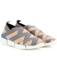 c098afaee9c5 Lyst - Stella Mccartney Embellished Platform Slip-on Sneakers in Brown