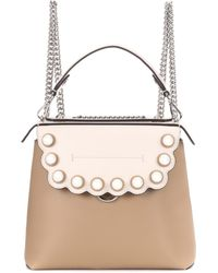 Fendi - Back To School Leather Backpack - Lyst