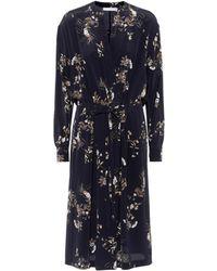 Vince - Printed Silk Dress - Lyst