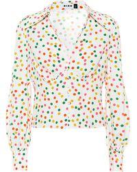 RIXO London Bedruckte Bluse Daria - Mehrfarbig
