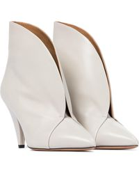 Isabel Marant Arfee Leather Ankle Boots - White