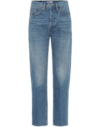 RE/DONE High-Rise Straight Jeans Stove Pipe - Blau