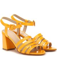 Maryam Nassir Zadeh Palma High Patent Leather Sandals - Multicolour