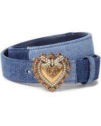 Dolce & Gabbana Gürtel Devotion aus Denim - Blau