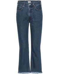 Citizens of Humanity - High-Waist Cropped Jeans Estella - Lyst