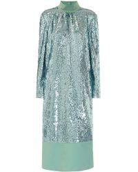 Tibi - Sequined Midi Dress - Lyst