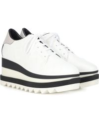 Stella McCartney Sneakelyse Lace-up Bright Sneakers - White