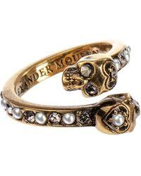 Alexander McQueen Verzierter Ring aus Messing - Mettallic