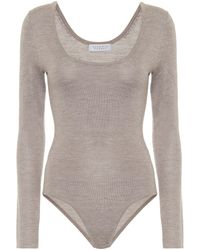 Gabriela Hearst Emily Cashmere And Silk Bodysuit - Multicolour