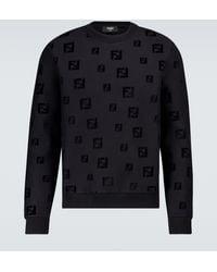 Fendi Ff Chenille Sweatshirt - Black