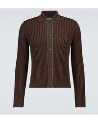 Bottega Veneta Military Ribbed Pullover Cardigan - Brown