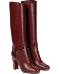 Victoria Beckham Stiefel Valentina aus Leder - Rot