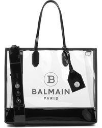 Balmain Logo Medium Pvc Tote - Black