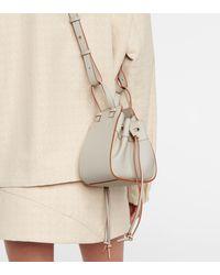 Loewe Hammock Mini Leather Shoulder Bag - White