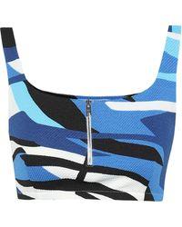 Prada Printed Bralette - Blue