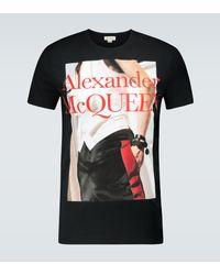 Alexander McQueen Camiseta con estampado gráfico - Negro