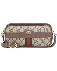 Gucci Ophidia East-west GG Supreme Crossbody Bag - Natural