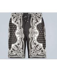 Dolce & Gabbana Printed Swim Shorts - Black