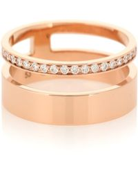 Repossi Anello Berbere Module in oro rosa 18kt con diamanti - Metallizzato