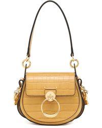 Chloé Tess Small Leather Shoulder Bag - Metallic