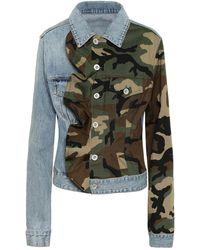 Unravel Project Camo-print Denim Jacket - Blue