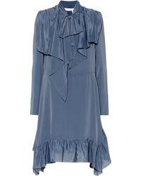 See By Chloé Crêpe De Chine Dress - Blue