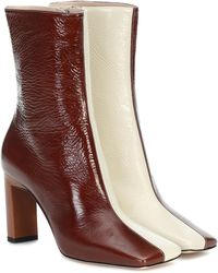 Wandler Isa 85 Leather Ankle Boots - Multicolor