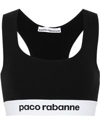 Paco Rabanne Logo Sports Bra - Black