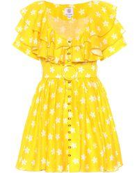 Gül Hürgel Floral Linen Minidress - Yellow