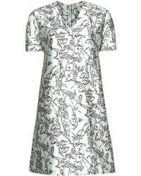 Balenciaga Printed Silk-blend Dress - Green