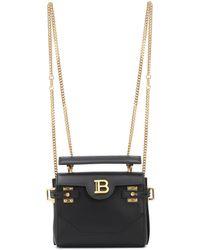 Balmain B-buzz 18 Leather Backpack - Black