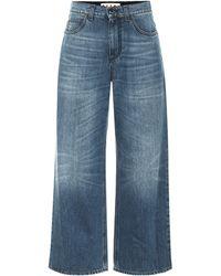Marni High-rise Wide-leg Jeans - Blue