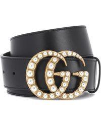 Gucci - Embellished Leather Belt - Lyst