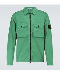 Stone Island Hemdjacke aus Baumwolle - Grün