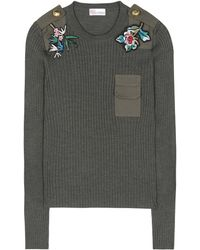 RED Valentino   Embellished Wool Sweater   Lyst