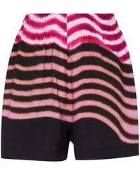Dries Van Noten Shorts de algodón de rayas - Multicolor