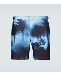 Orlebar Brown Bulldog Photographic Printed Swim Shorts - Blue