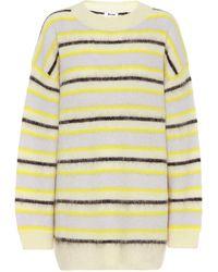 Acne Studios Striped Sweater yellow/multi