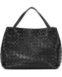 Bottega Veneta Garda Large Intrecciato Leather Tote - Black