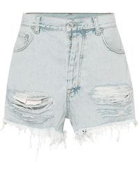 Unravel Project High-Rise Jeansshorts - Blau