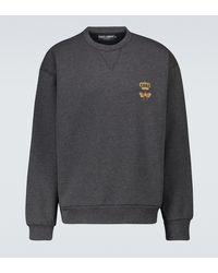 Dolce & Gabbana Sweat-shirt en coton mélangé - Gris