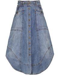 Ulla Johnson Arden Stretch-cotton Midi Skirt - Blue