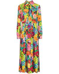 Gucci X Ken Scott Floral Silk Maxi Dress - Multicolor
