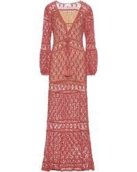 Anna Kosturova Bianca Crochet Cotton Dress - Pink
