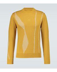 A_COLD_WALL* Terrain Jacquard Wool Sweater - Yellow