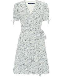 Polo Ralph Lauren Exklusiv bei Mytheresa – Bedrucktes Wickelkleid aus Crêpe - Weiß