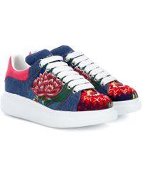 Alexander McQueen - Embroidered Platform Sneakers - Lyst