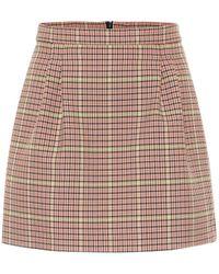 RED Valentino – Mini-jupe à carreaux - Rose