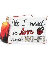 Dolce & Gabbana All I Need Is Love Clutch - White